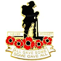 BRITISHPAPER NEW POPPY LAPEL PIN ENAMEL BADGE LONE SOLDIER NEVER FORGET ARMY MILITARY