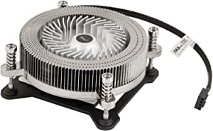 CPU Cooler 1U Low Profile CPU Cooling Fan Full Copper & Aluminum Structure 60 mm PWM Fan & 4-Pin Connector, Slim 27mm Height Saves Internal Space 13dBA Silent Noise Level High End 2 Ball Bearing