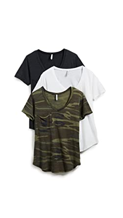 56d8bb646f0a Z SUPPLY Women s Camo Tee 3 Pack at Amazon Women s Clothing store