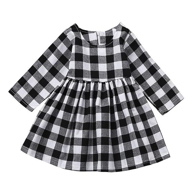 Hffan Baby Mädchen Minikleid Langarm Kleid Prinzessin Kleid Hochzeit ...