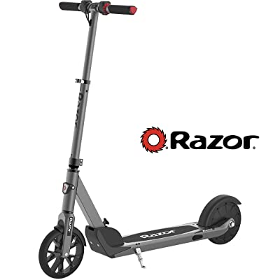 """Razor E Prime Electric Scooter - Up to 15MPH, 8"""" Airless Flat-free Tires, Rear Wheel Drive, 250W Brushless Hub Motor, Super Lightweight 21lbs, Anti-Rattle, Aluminum Folding Electric Scooter for Adults : Sports & Outdoors"""