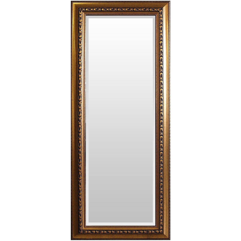 Wohaga® Wohaga® Wohaga® Garderobenspiegel, elegant verziert, Facettenschliff, 170x70cm, Goldfarben Flurspiegel Barspiegel Frisierspiegel Spiegel Wandspiegel 88e20e