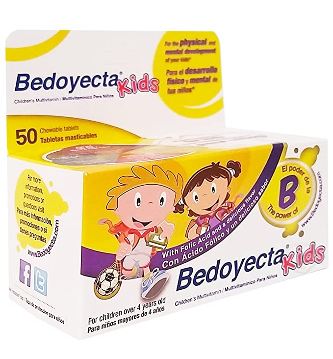 Amazon.com: Bedoyecta Kids Dietary Suplement 50 Tab - Suplemento Multivitaminico para Ninos (Pack of 6): Health & Personal Care