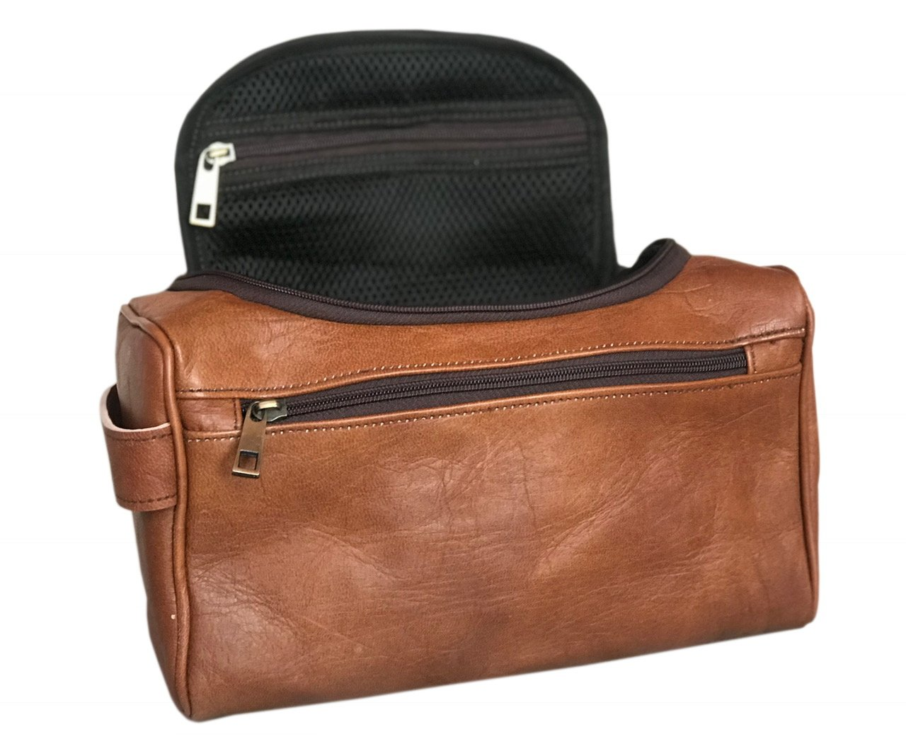 19d71a981fe8 Amazon.com  STYLISH Leather Toiletry Bag Leather Travel Kit Shaving Makeup  Men Cosmetic Bags Case  Health   Personal Care