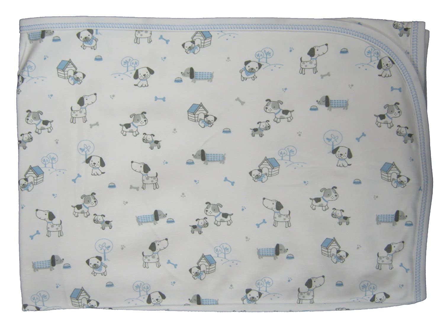 cheap Kissy Kissy Baby-Boys Infant Dog's Day Out Print Receiving Blanket big discount