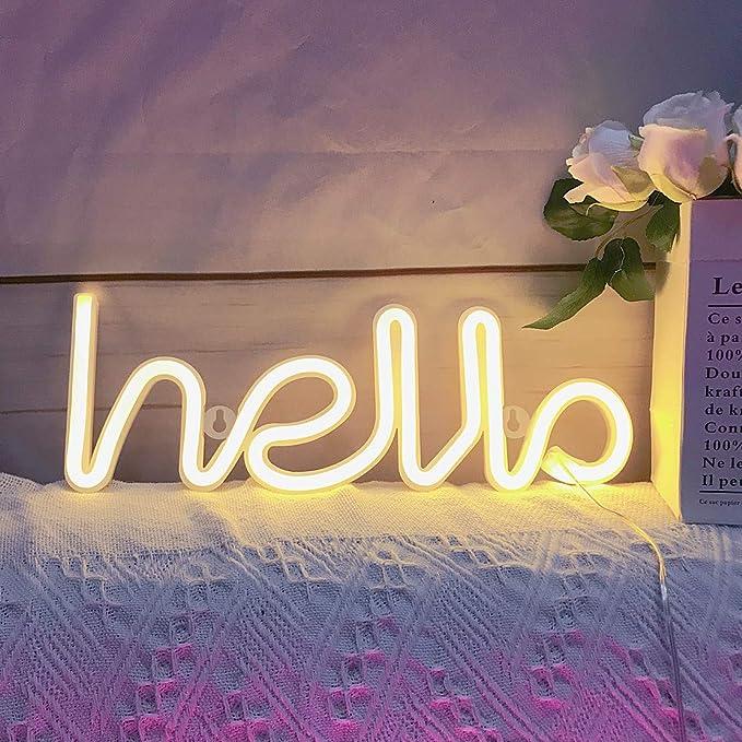 Qiaofei Light Up MARQUEE lettres Lumières lettres des enseignes au néon rose Wall Decor pour