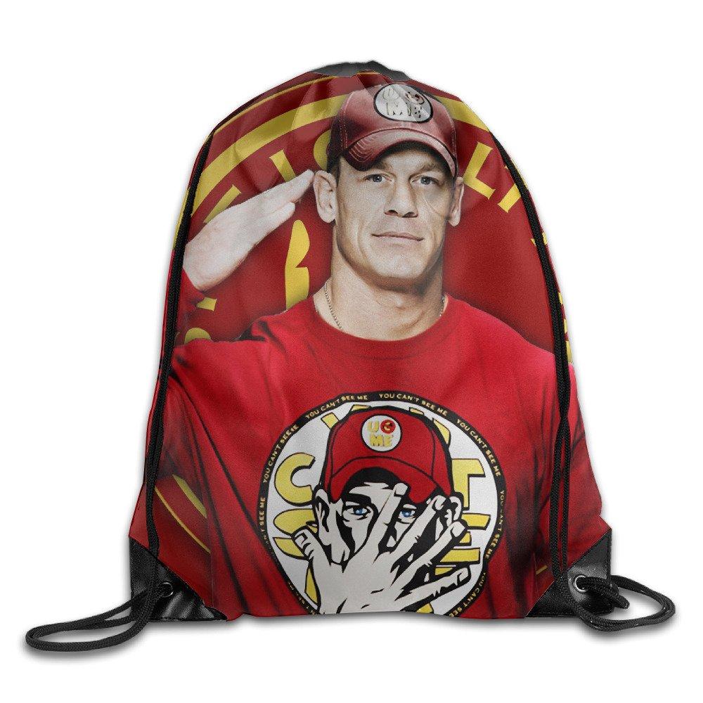 Home Gym Travel 16.9 14.2 Inch Sport Activity Sport Bag Drawstring Backpack Outdoor Drawstring Bag For Men Women John Cena Salute Portable Sack Bag