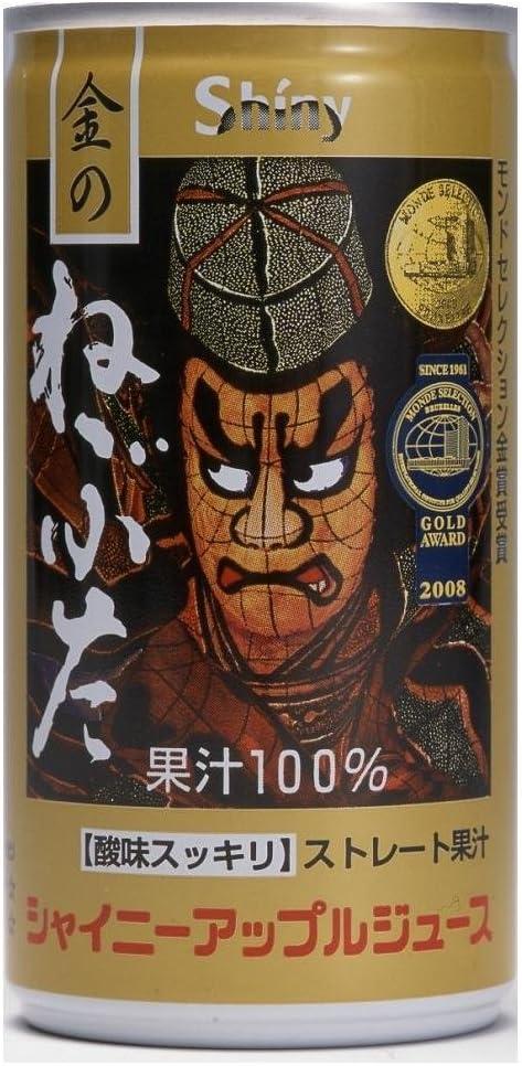 青森県りんごジュース シャイニー アップルジュース 金のねぶた 195g缶×2箱【60本】