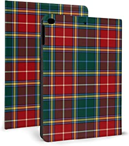 Clan Baxter Tartan Red and Forest Green Plaid Premium PU Leather Protective Cover - Stand Folio Case for Apple IPad Mini4/5 7.9""