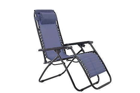 Amazon Com Zero Gravity Chair Blue Garden Outdoor