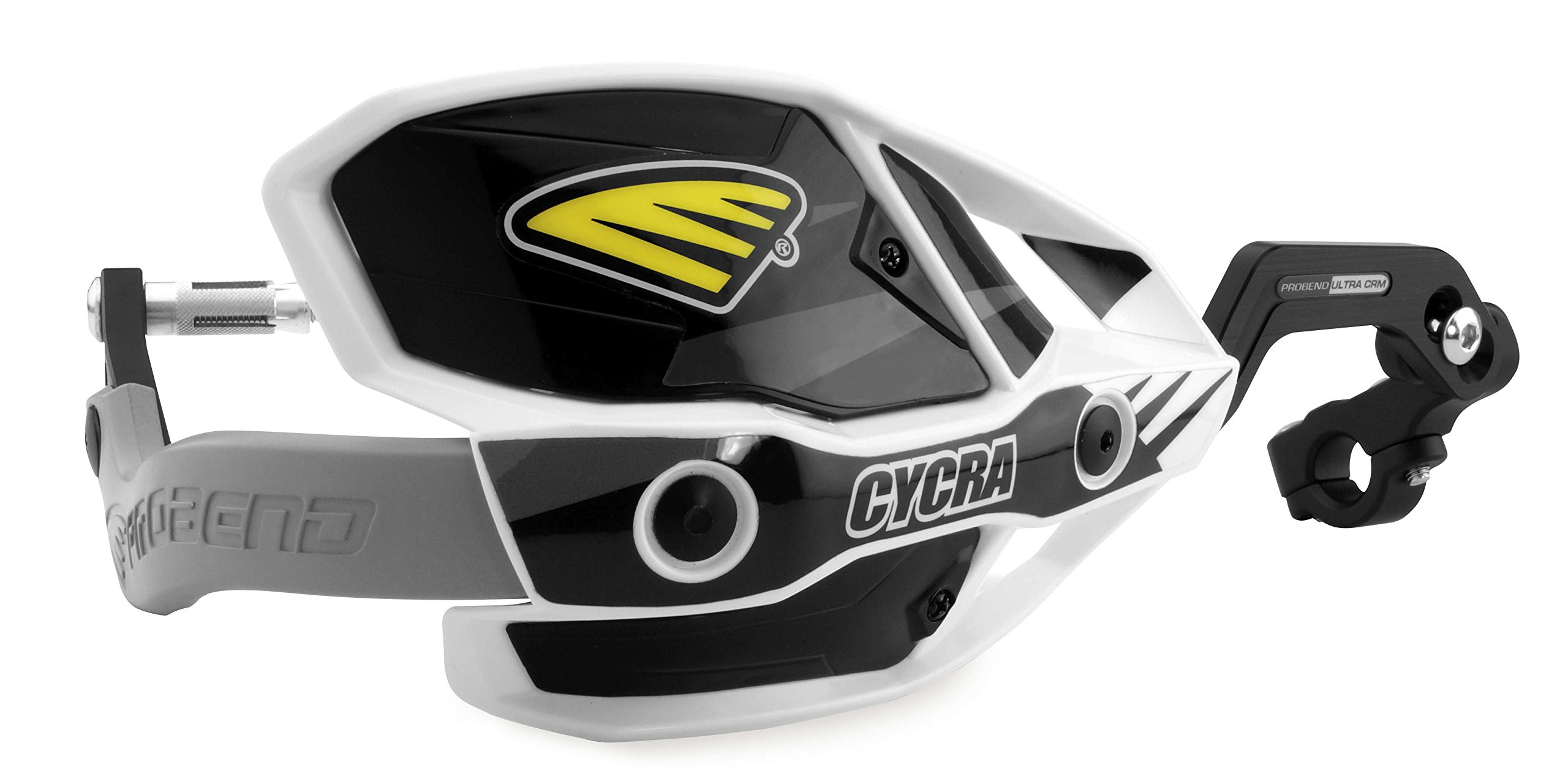 Cycra 1CYC-7407-12X Ultra ProBend CRM Handguards - 7/8in. Clamp - White/Black/Gray