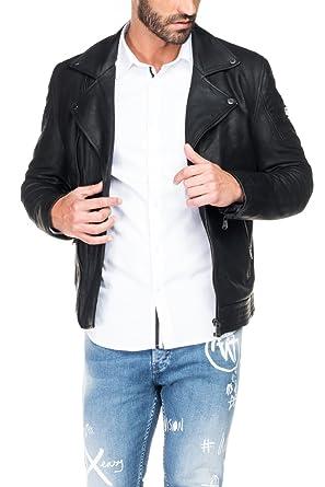 Salsa Lederjacke, an den Seiten und Taschen mit Zipper