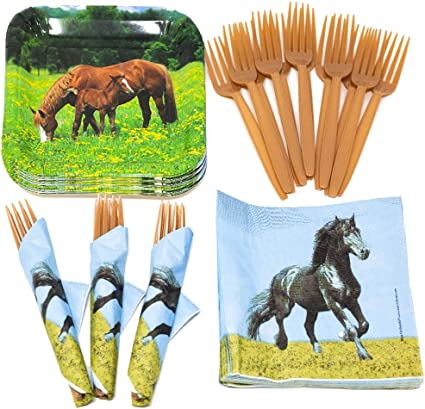 Amazon.com: Horse Value Party Supplies Pack (58+ Pieces for 16 ...