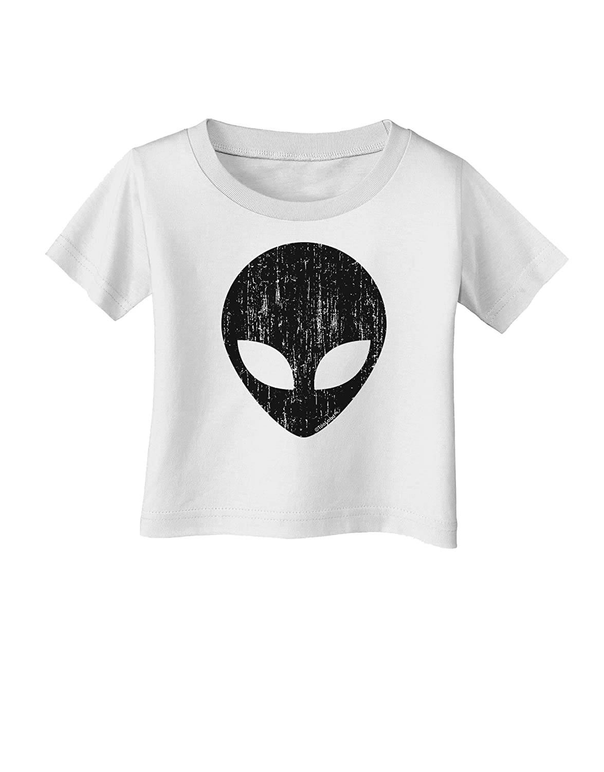 Alien Distressed Infant T-Shirt TooLoud Extraterrestrial Face