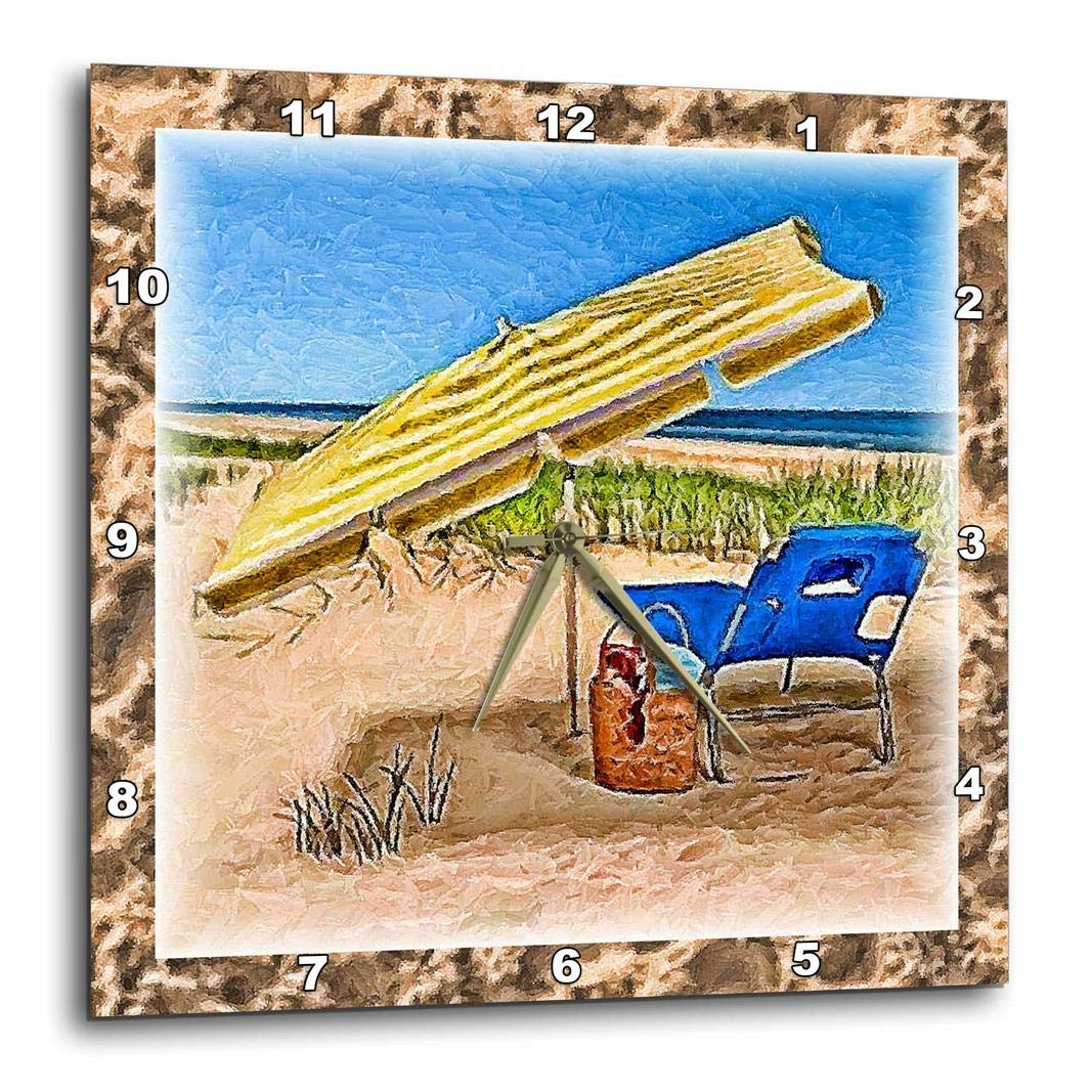 10 by 10-Inch 3dRose dpp/_25856/_1 Relax at The Beach-Wall Clock
