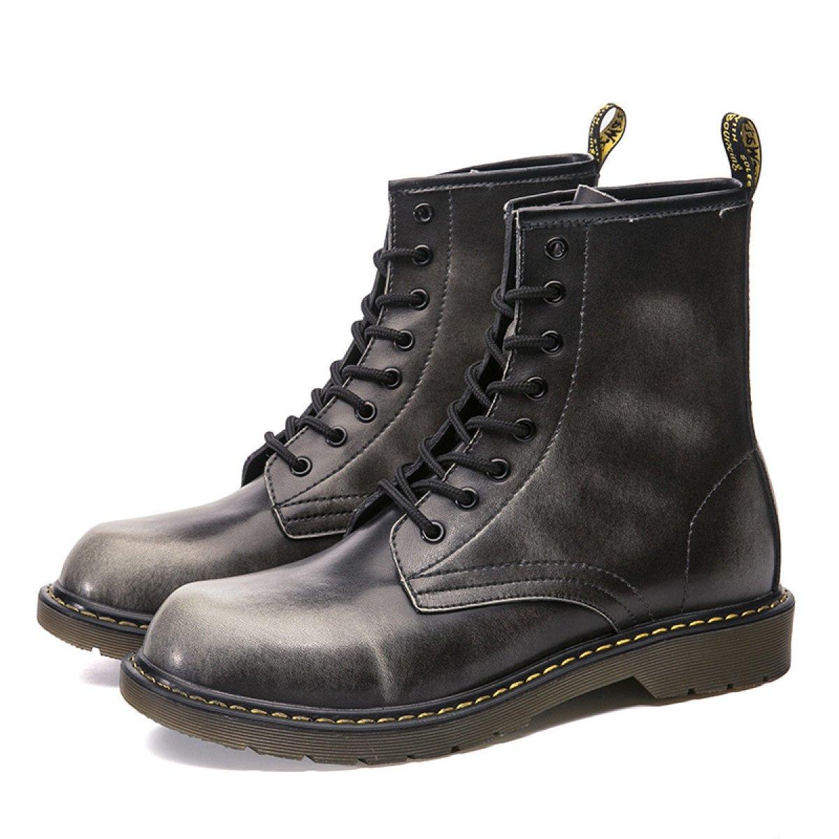 ZPFME Männer Martin Stiefel Business Leder Schuhe Smart Formale Schnürschuhe Brogues für Männer Frühling Herbst Schuhe