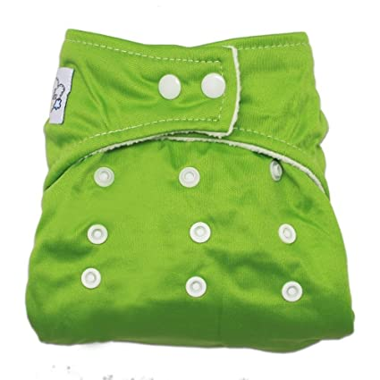 MANGO-Pañal Bañador De Tela Para Bebé Ajustable Tamaño ,color verde