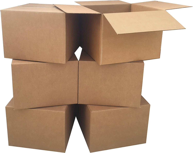 """AmazonBasics Moving Boxes - Large, 20""""x20""""x15""""/12 pack"""