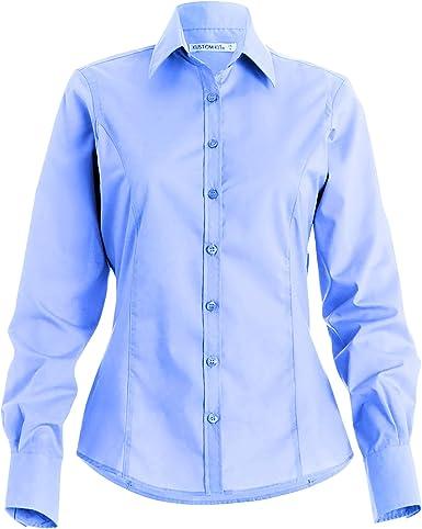 KUSTOM KIT - Camisa de Manga Larga para Trabajo para Mujer: Amazon.es: Ropa y accesorios