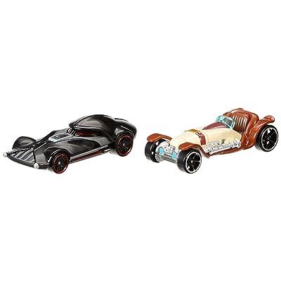 Hot Wheels Star Wars Character Car 2-Pack, Obi-Wan Kenobi vs. Darth Vader: Toys & Games