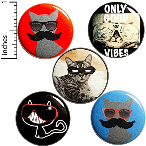 Amazon com: Weird Cat Buttons 5 Pack Backpack Pins Unique
