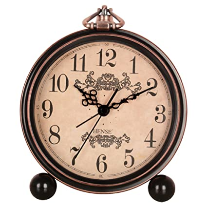 Hense HA65: Reloj despertador de mesa, 12,7 cm; estilo europeo con