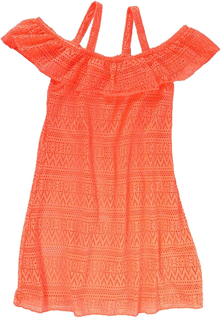 iDrawl Girls Cover-ups Swimsuit Beach Dress Off Shoulder Ruffle Swimming Cover Up