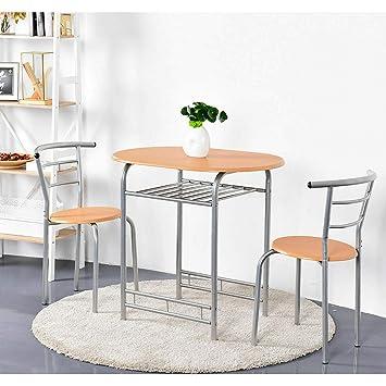Amazon.com: Stark Item - Juego de mesa y 2 sillas de comedor ...