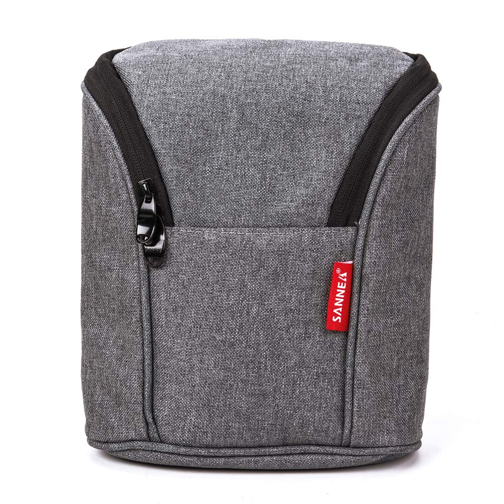 Rufun Insulated Bag for Breast Milk Lunch Cooler Warming Backpack Waterproof 2 Ice Packs Included Gray