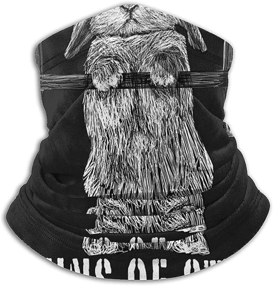 BaoBei-shop Bollos de acero Fleece Neck Gaiter Warmer Winter Windproof Ski Mascarilla Pasamontañas Media máscara para mujeres Hombres