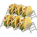Soporte Para Tacos Mexicanos: 2 Bandejas Metálicas de Alambre Para Servir Tacos de Concha Blanda y Dura…
