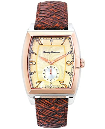 amazon com tommy bahama leather pineapple dial men s watch tommy bahama leather pineapple dial men s watch tb1220