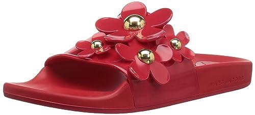 010db1c4d88 Marc Jacobs Women s s Daisy Aqua Slide Sandal  Amazon.co.uk  Shoes ...