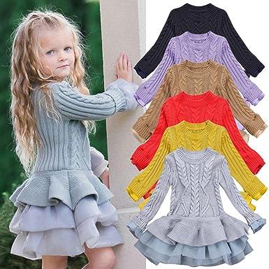45fb156fa37a5 Amazon.com  ShiTou Girl Sweater Dress