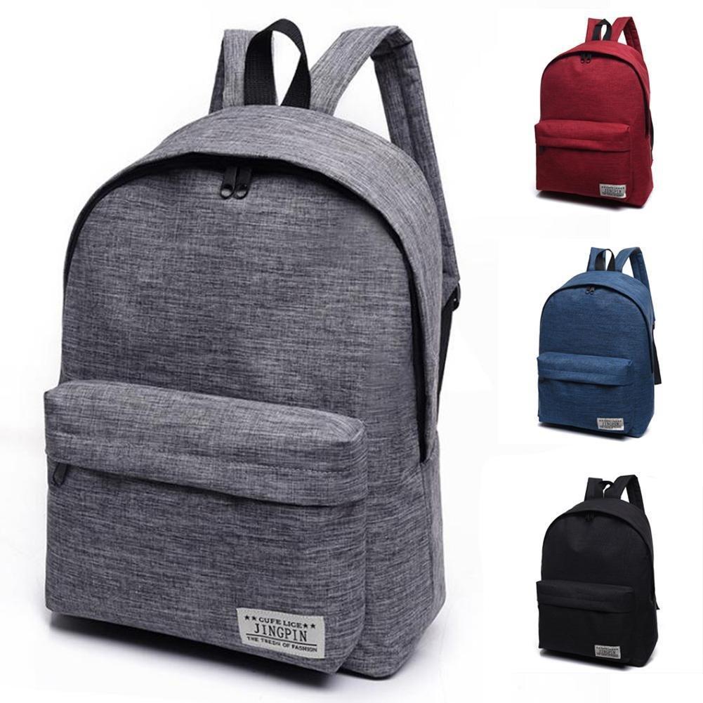 Mango King - 1 mochila de lona de color puro para estudiantes, bolsa de lona para el hombro, mochila de viaje, color rosso: Amazon.es: Oficina y papelería