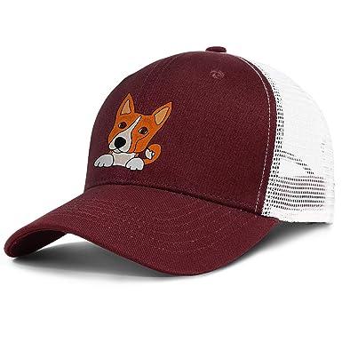 Mesh Baseball Caps Cute Welsh Corgi Fun Art Unisex Adjustable Sports Trucker cap