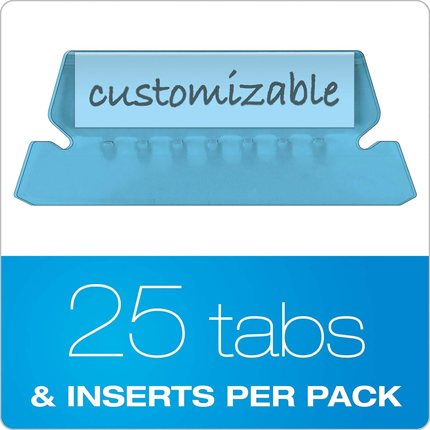 Pendaflex Insertable Plastic Tabs Hanging Folder Tabs, 2'', Bundle of 8 Colors, 25 Tabs and Inserts Per Color, 200 Tabs and Inserts Total by Pendaflex