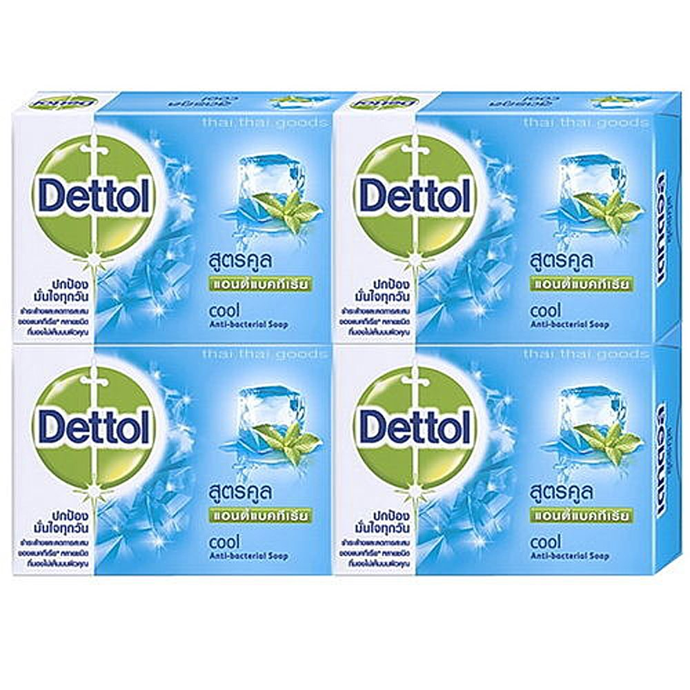 4 BAR 70 grams DETTOL ANTI-BACTERIAL SOAP COOL FORMULA AROMA