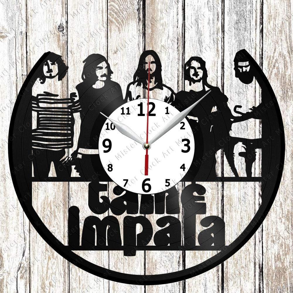 Vinyl Clock - Vinyl Wall Clock - Tame Impala - Custom Design - Handmade Original Gift - Personalised Vinyl Record Wall Clock - Unique Art Home Decor -