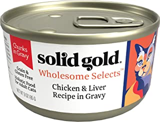 product image for Solid Gold Chunks in Gravy Wet Cat Food; Wholesome Selects with Real Poultry, 24 ct/3 oz (Previously Solid Gold Savory Feast, Dawn's Sky & Sunrise Delight)