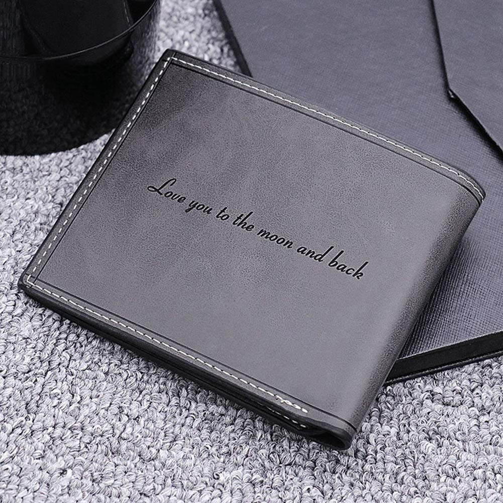 color,size Custom Photo Wallet Mens Leather Classic Personality Wallet Husband Gift