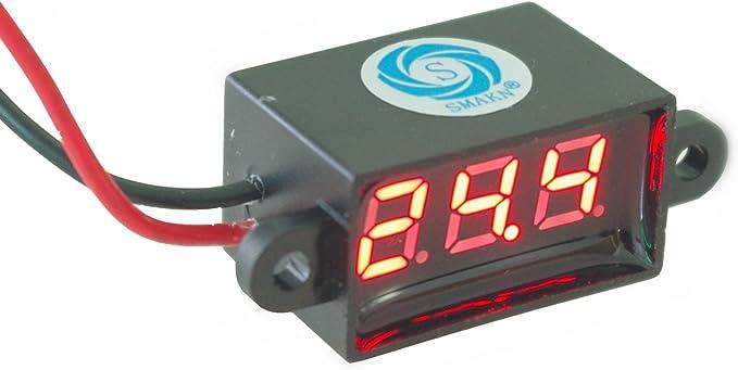 0.28 inch DC 0-100V 3 Wires Mini Gauge Voltage Meter Voltmeter LED Display Oy
