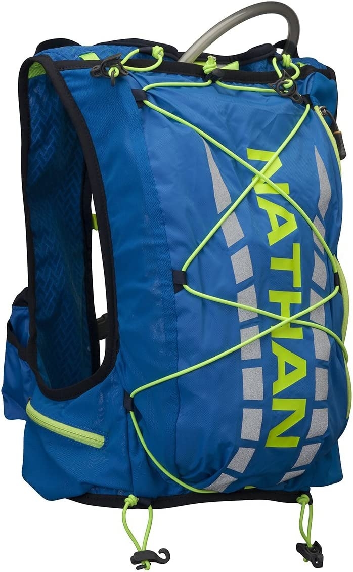 Nathan Vapor Air 7L Hydration Race Vest Electric Blue Lemonade, XS