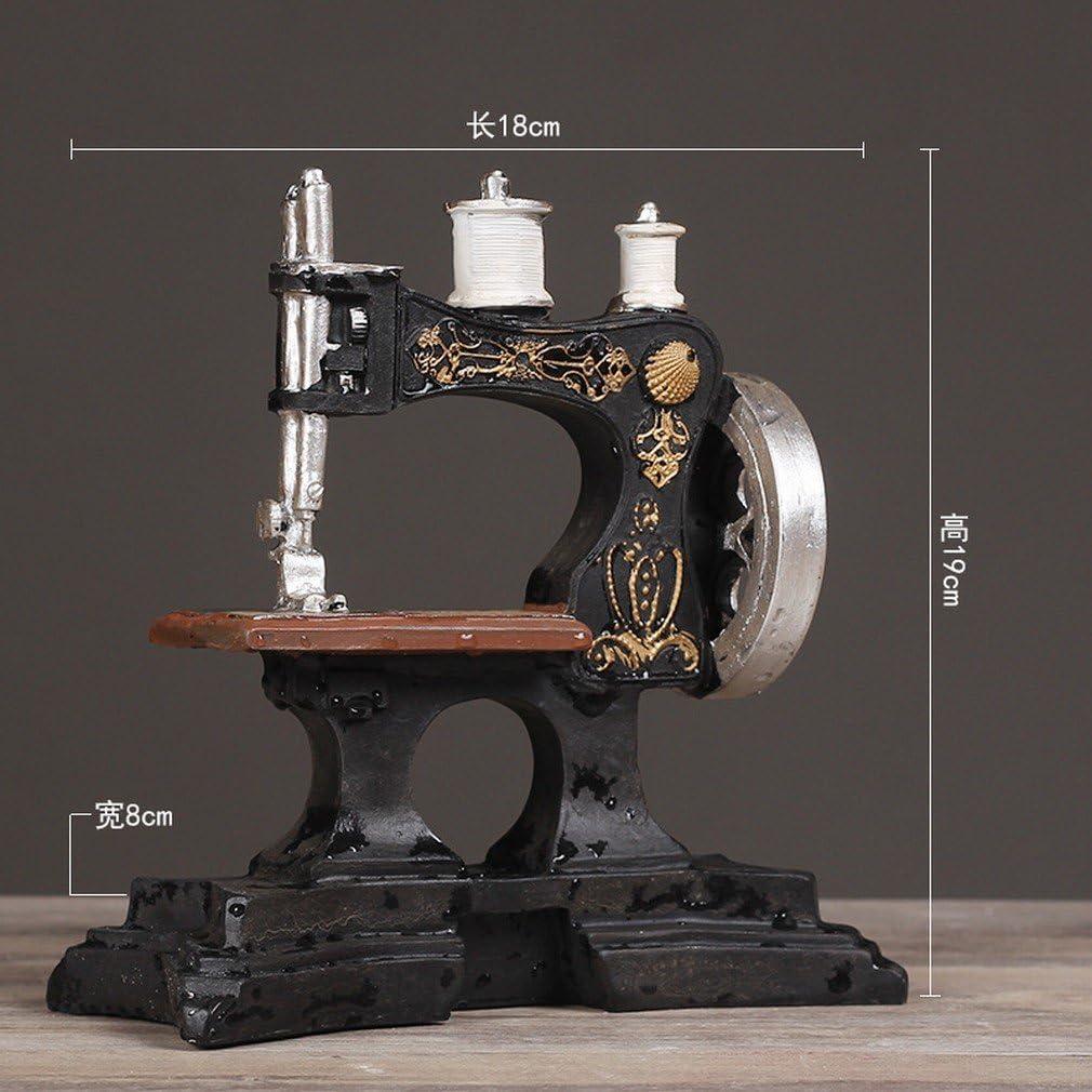 YL LY Máquina de Coser Antigua Europea Adornos de Café Modelo de ...