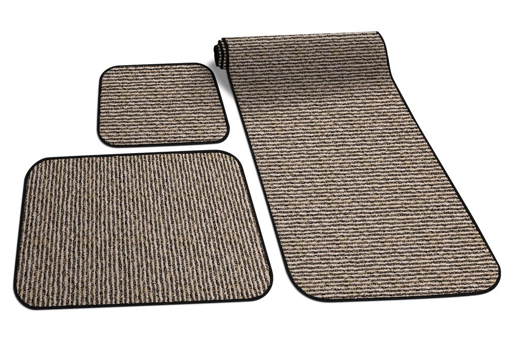 Prest-O-Fit 5-0263 Decorian 3 Piece RV Rug Set Peppercorn Black