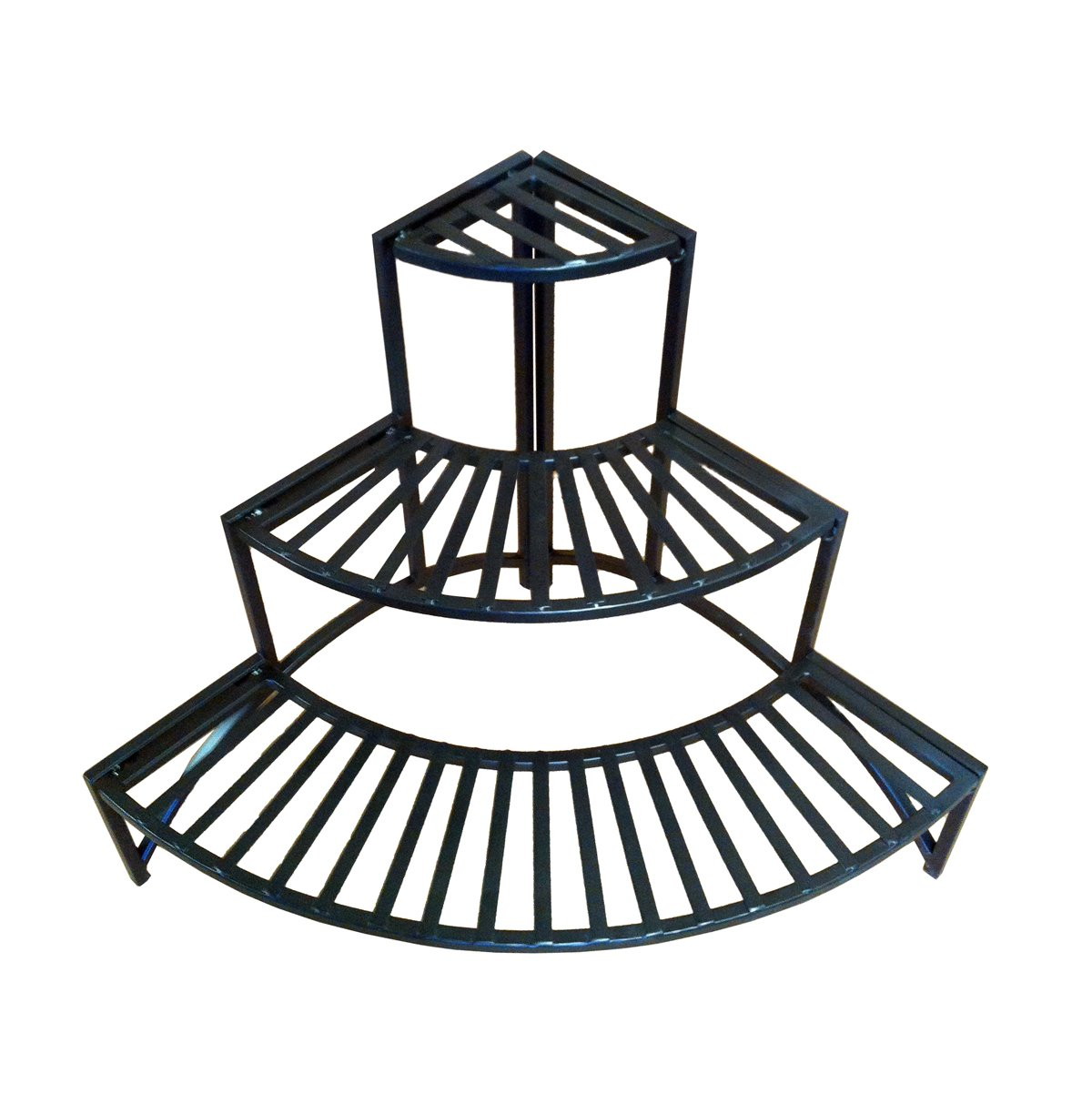 Pangaea Home and Garden Folding Corner Three Layer Iron Plant Stand by Pangaea Home and Garden