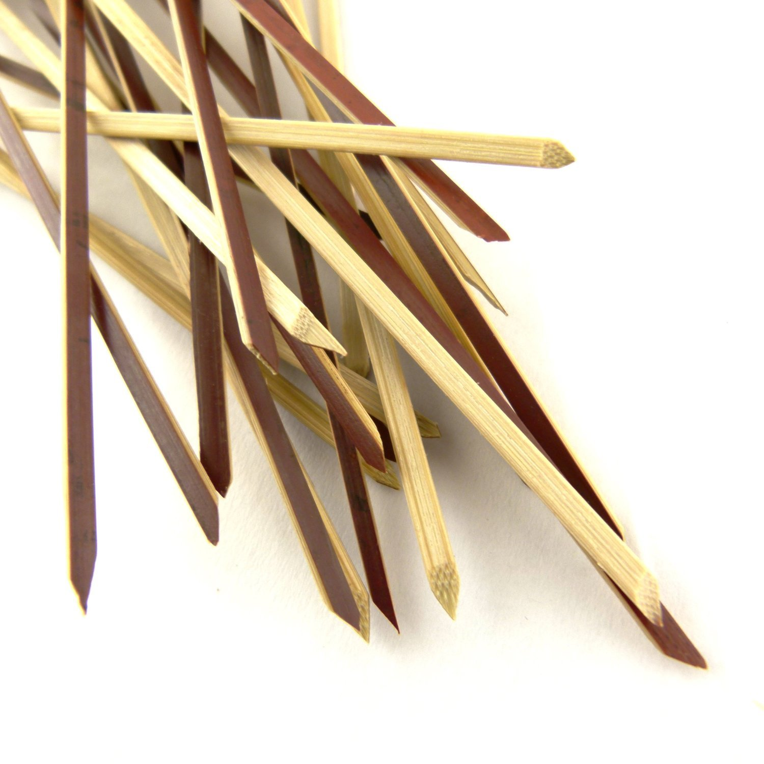 BambooMN 3.14'' Bamboo Tea Knotted Knot Skewers Picks for Cocktails and Hors' D'oeuvres Party Supplies, 1000 Pieces