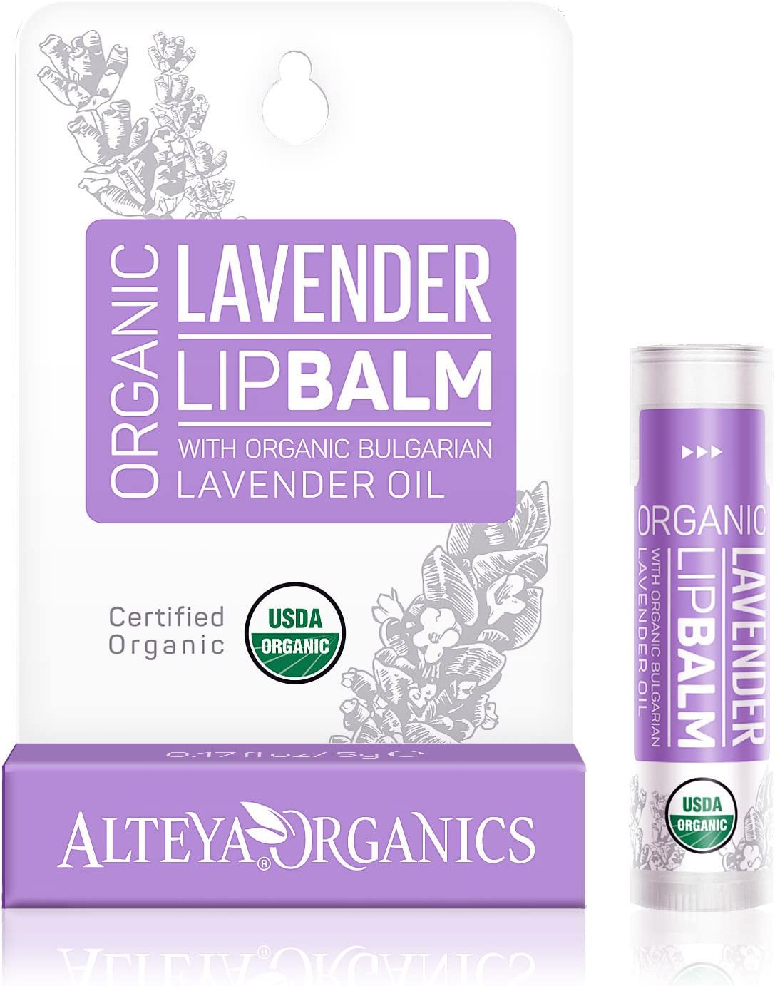Alteya Organic balsamo labial de lavanda 5 gr