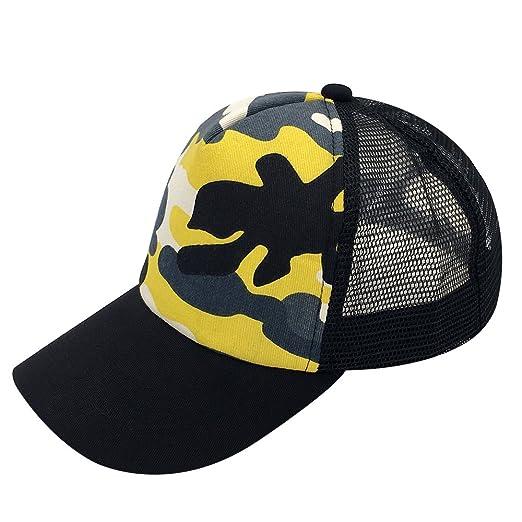 a7fba5db3844d Snapback Baseball Cap Trucker Mesh Blank Curved Visor Hat Plain Color New  (Camouflage 2)