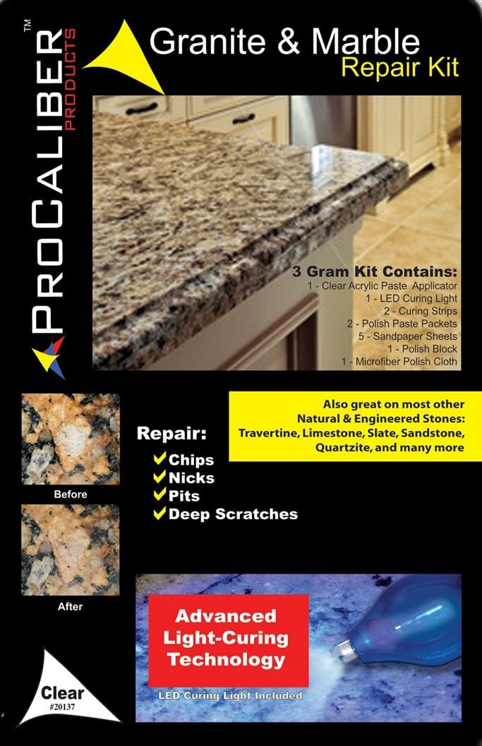 ProCaliber Products Granite /& Marble /& Quartz /& Stone Chip /& Nick Repair and ...